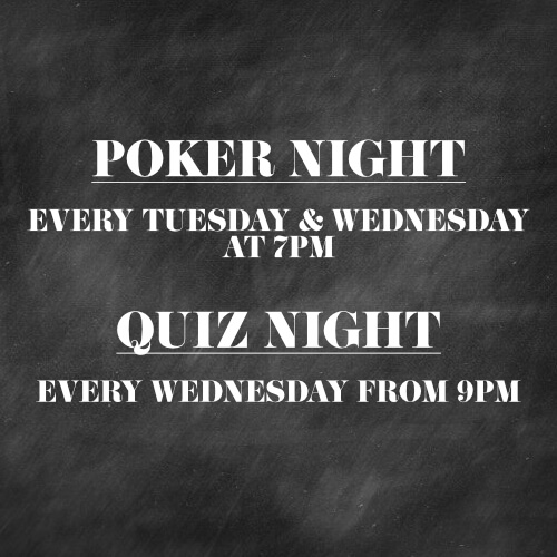 Poker and Quiz Nights